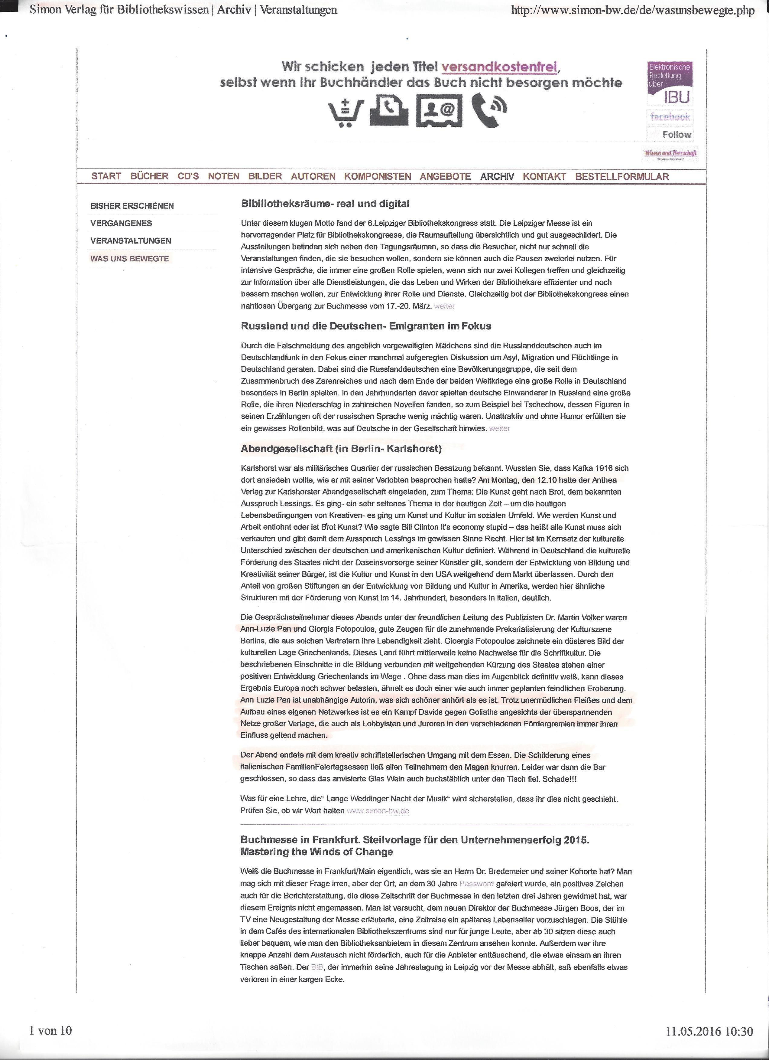 Simon-Verlag-Artikel